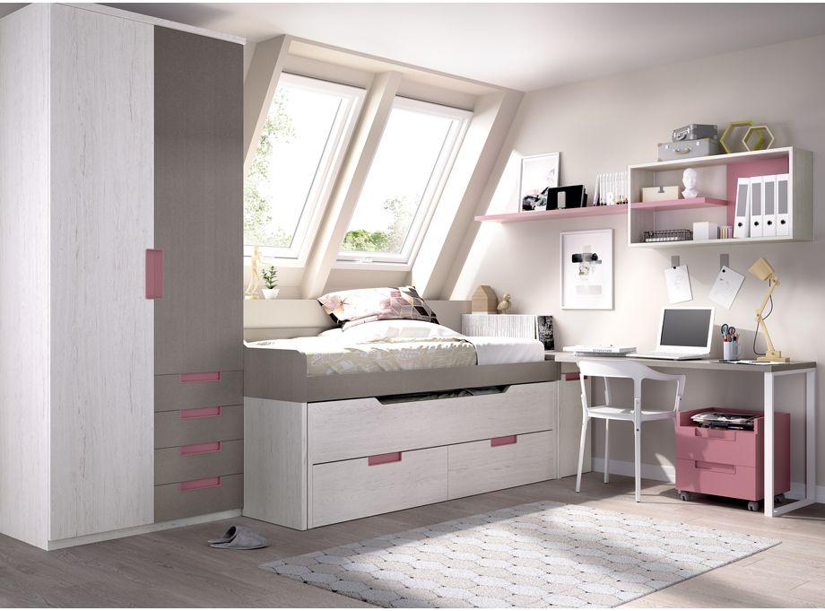 Dormitorio Juvenil con campacto alto RImobel