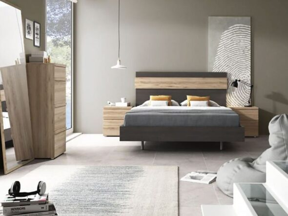 Dormitorio de matrimonio barato Ramis Milano 558
