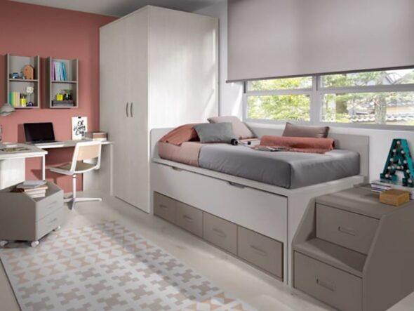 Dormitorio juvenil Glicerio Chaves formas 19 comp 12