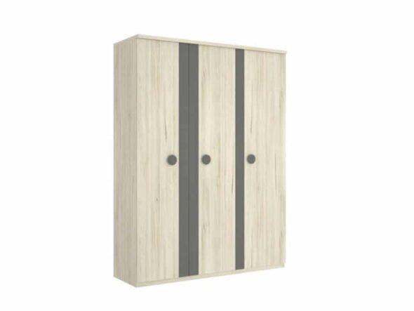 Armario 3 puertas batientes con franja vertical