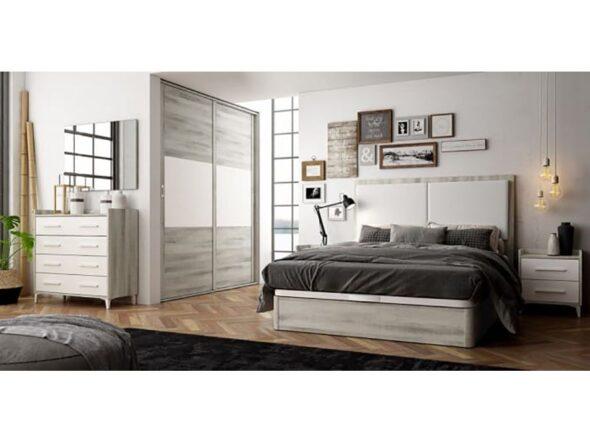 Dormitorio azor Urban con cabezal tapizado