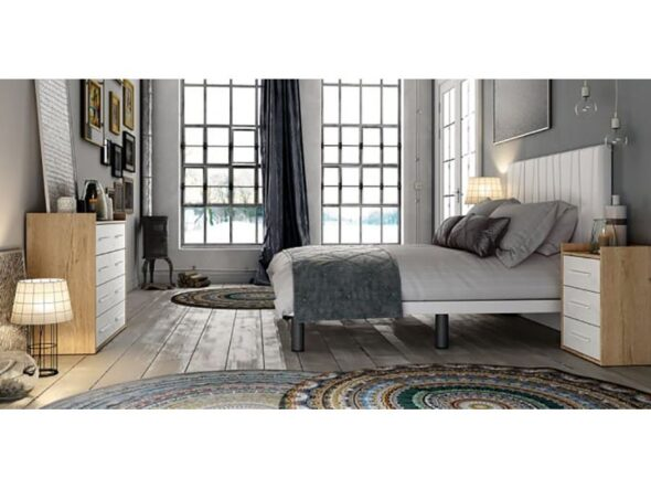 Dormitorio de matrimonio Azor Urban cabezal tapiazado