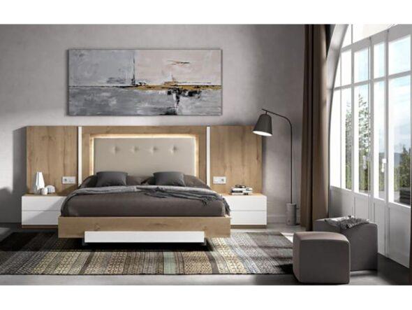 Dormitorio cabezal tapizado Rosamor