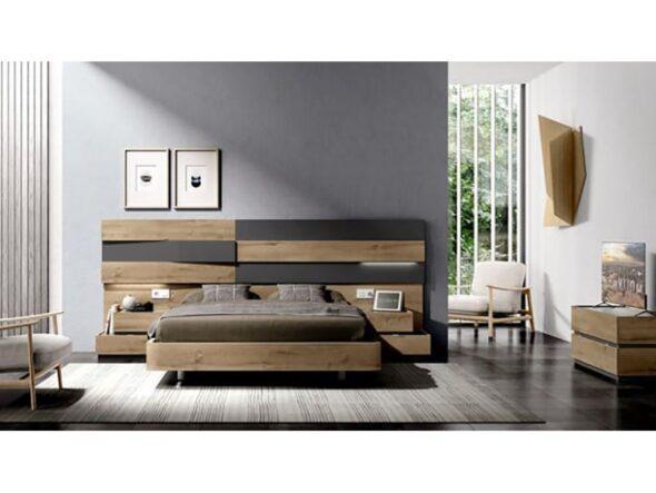 Composición dormitorio Rosamor Vey Wood 334