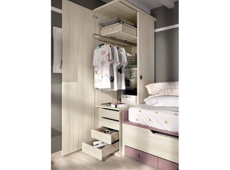 Detalle armario Rimobel con cajones