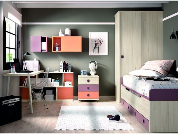 Dormitorio juvenil moderno Rimobel 101