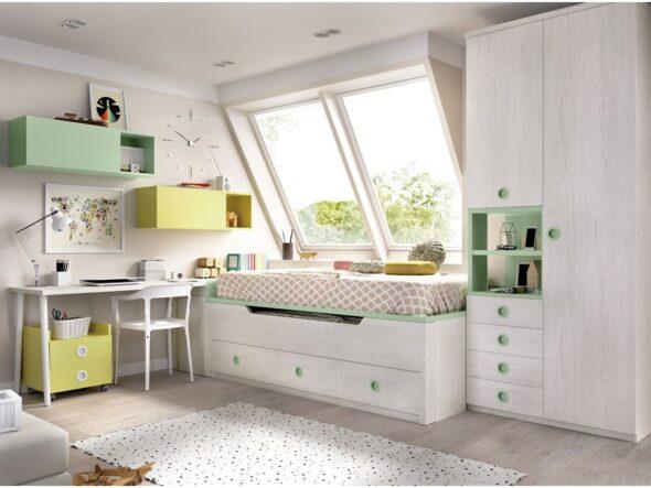 Dormitorio con compacto alto Rimobel