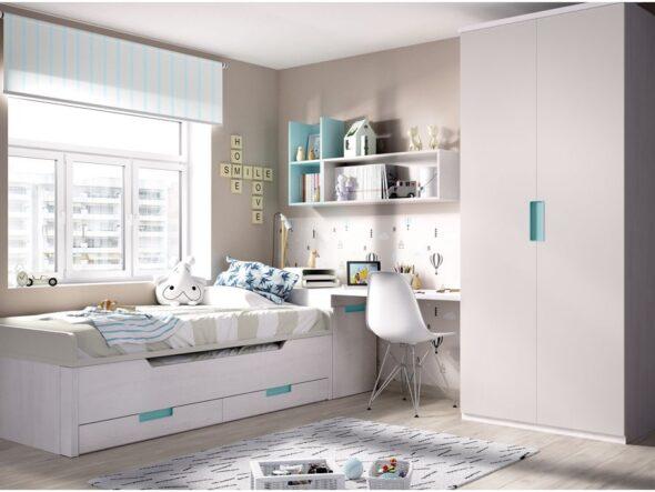 Dormitorio juvenil con compacto moderno Rimobel