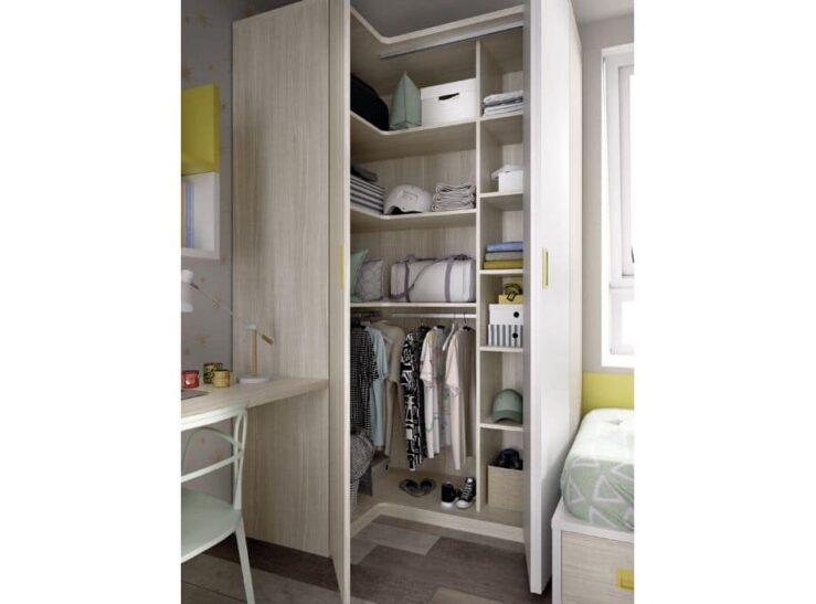 Interior armario rinconero 1