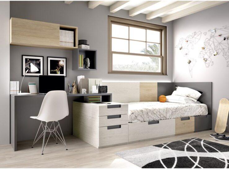 Dormitorio juvenil con sistema modular Rimobel