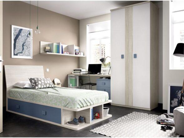 Dormitorio tatami con cajones