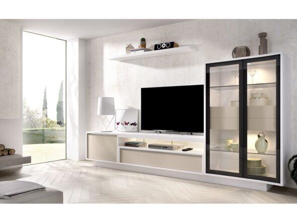 Composición de salón Rimobel modelo duo 18 blanca