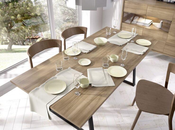 Mesa de comedor Rimobel abierta