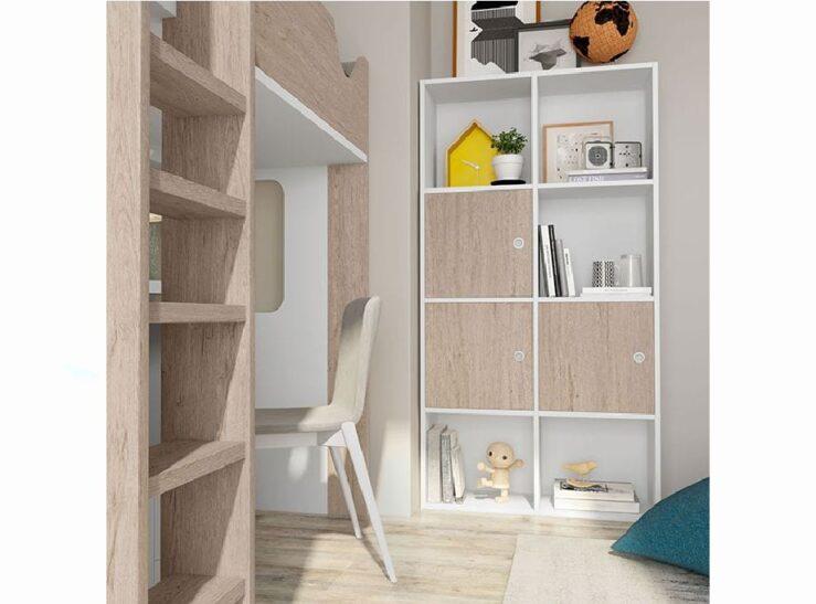 dormitorio juvenil con litera Aire 206