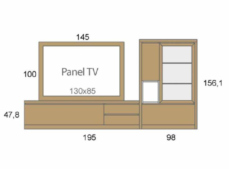Medidas composición salón Baixmoduls Duna 03