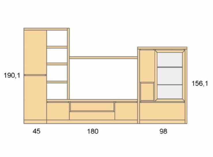 Medidas composición salón Baixmoduls Duna 04