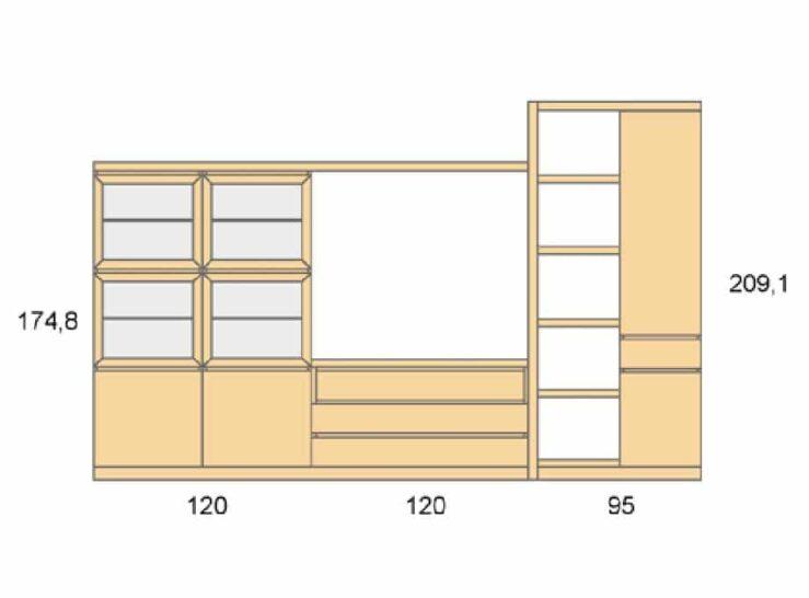 Medidas composición salón Baixmoduls Duna 06