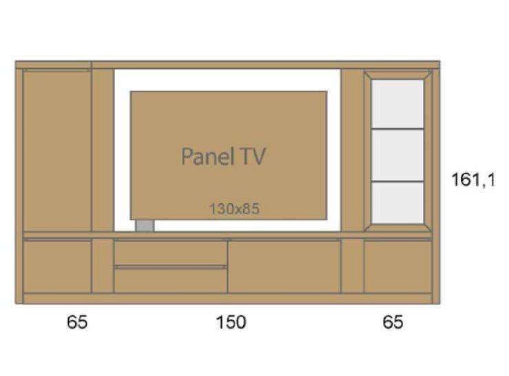 Medidas composición salón Baixmoduls Duna 08