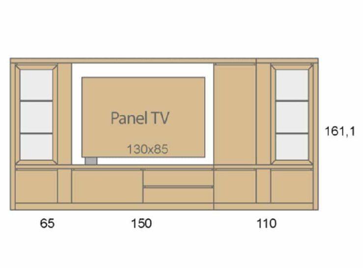Medidas composición salón Baixmoduls Duna 10