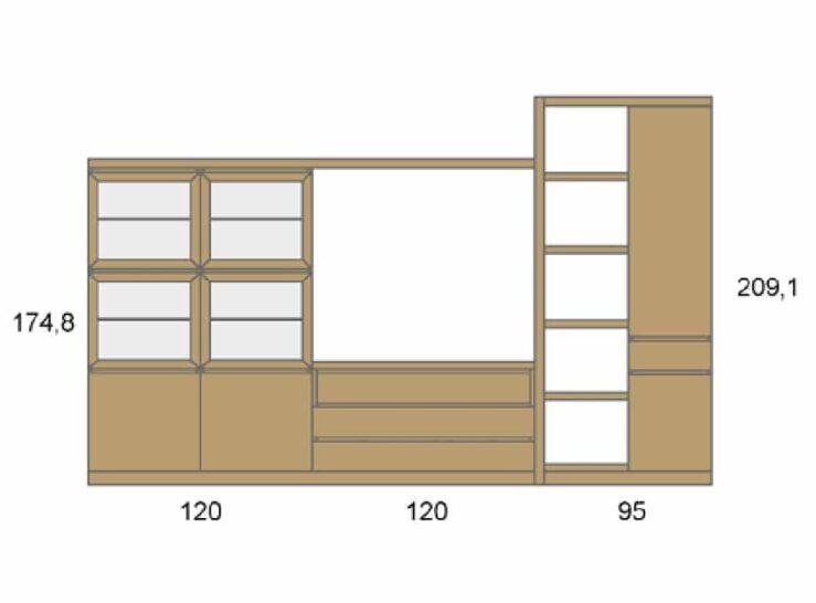 Medidas composición salón Baixmoduls Duna 29