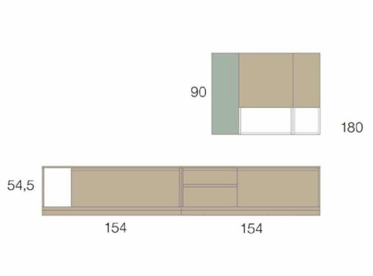 Medidas composición salón Baixmoduls Kay 19