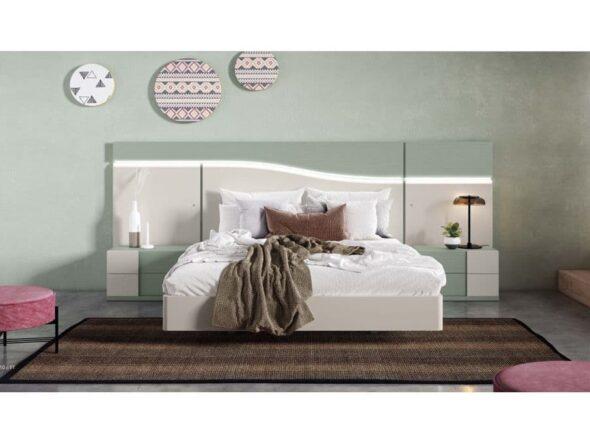 Dormitorio lacado con leds modelo Viena 04