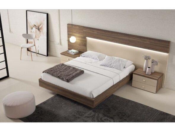 Dormitorio en nogal i café