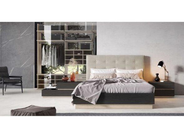 Dormitorio con cabezal tapizado Viena 13