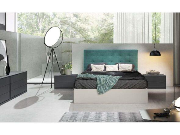 Dormitorio con cabezal tapizado Viena 14