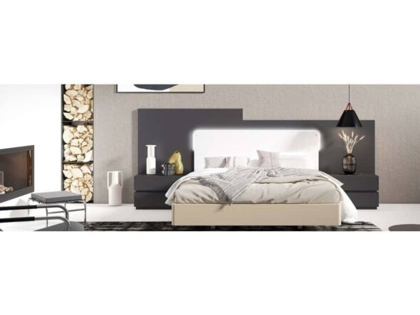 Dormitorio con cabezal moderno Viena 17