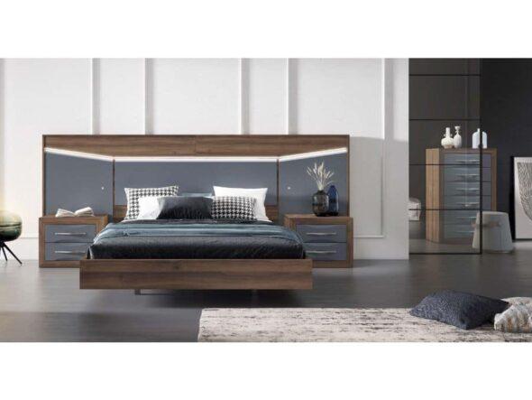 Dormitorio con leds y bancada