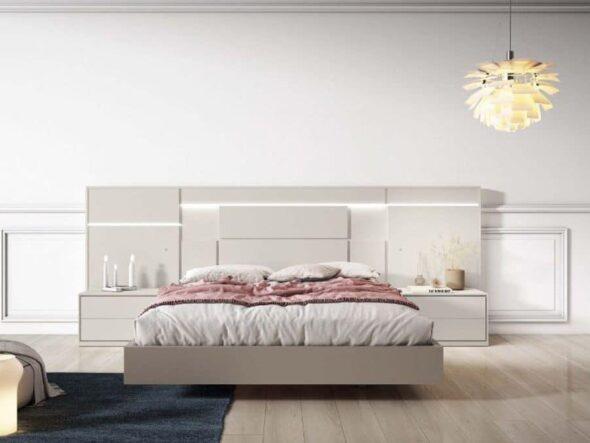 Dormitorio de matrimonio lacado en coco