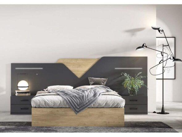 Dormitorio de matrimonio lacado pizarra
