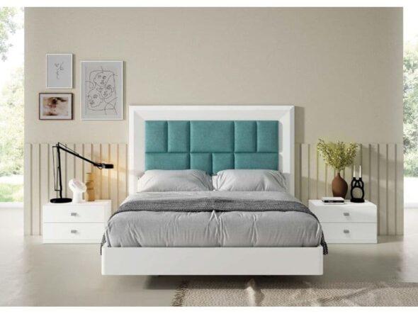 Dormitorio de matrimonio en color blanco