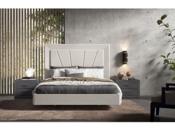 Dormitorio con bancada redonda