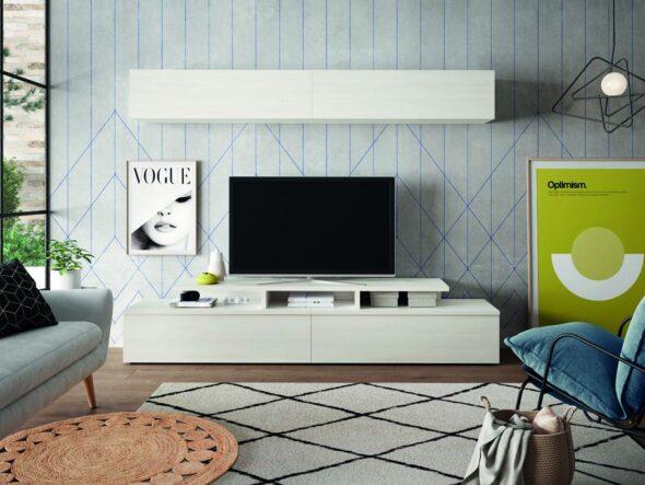 Composición de salón barata blanca Neo 655