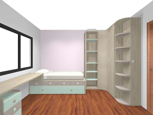 Dormitorio Juvenil a medida Proyecto
