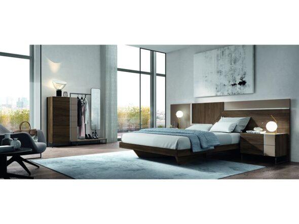 Dormitorio de matrimonio con sifonier+espejo modelo Cosmos 001