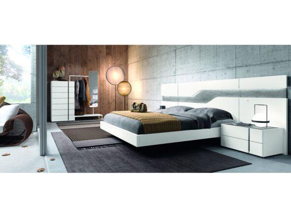 Dormitorio de matrimonio en color blanco modelo Cosmos 010