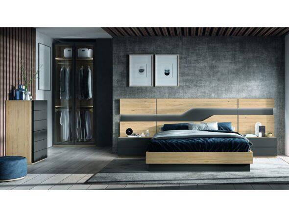 Composición dormitorio de matrimonio actual modelo Cosmos 011