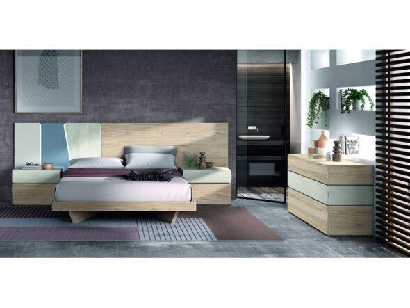 Dormitorio de matrimonio con un diseño actual modelo Cosmos 015