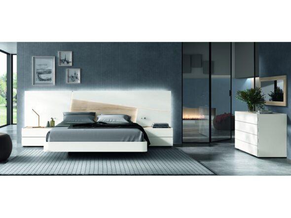 Dormitorio de matrimonio color Polar y Habana modelo Cosmos 018