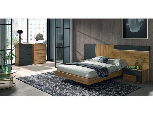 Elegante composición de muebles para dormitorio de matrimonio modelo Cosmos 002