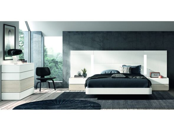 Dormitorio de matrimonio estilo nórdico modelo Cosmos 020