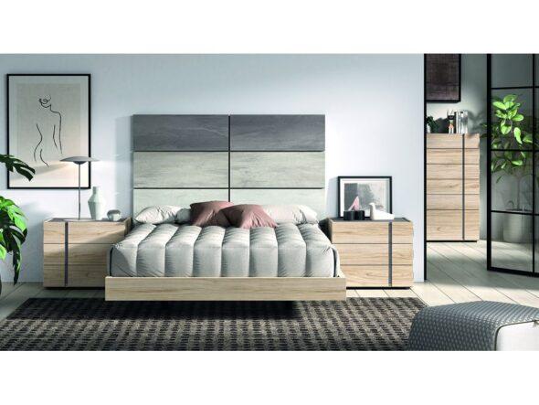 Dormitorio de matrimonio de líneas rectas modelo Cosmos 028