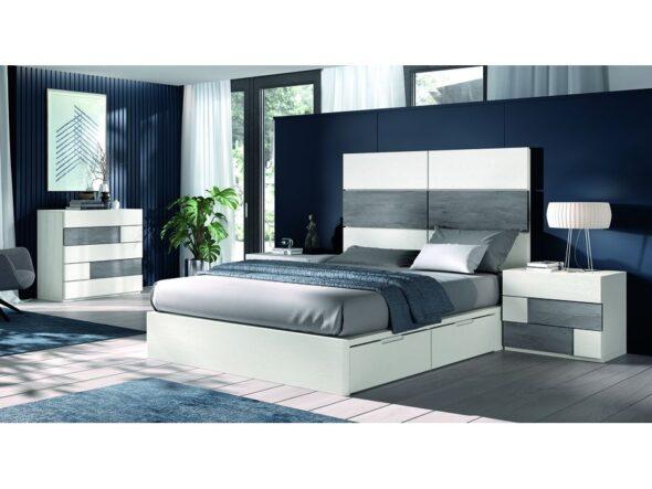 Dormitorio de matrimonio gran espacio de almacenaje modelo Cosmos 029