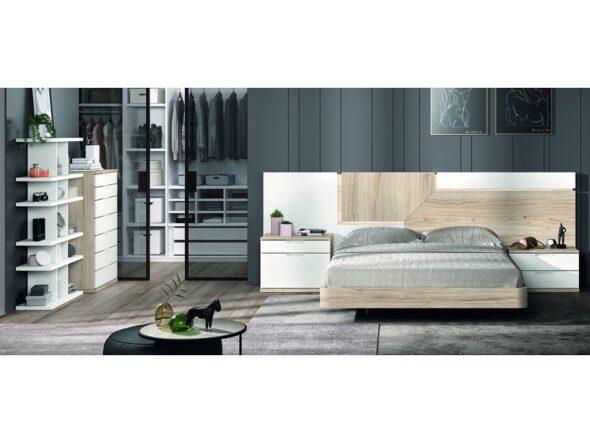 Dormitorio de matrimonio con bancada modelo Cosmos 003