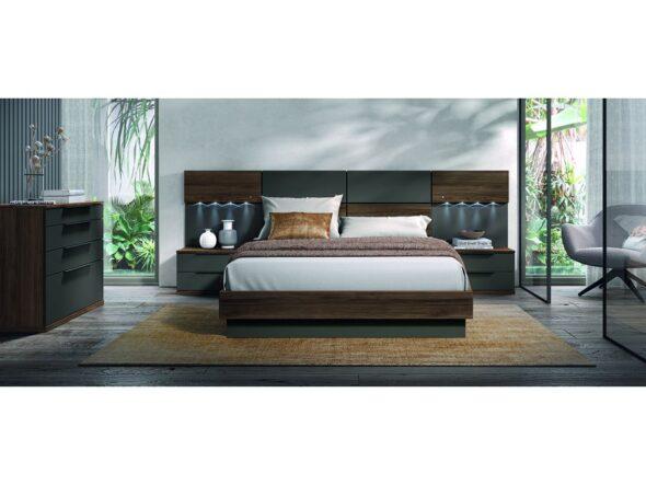 Composición dormitorio de matrimonio bicolor modelo Cosmos 030