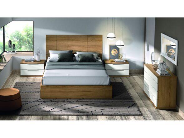 Conjunto dormitorio de matrimonio con canapé elevable modelo Cosmos 031