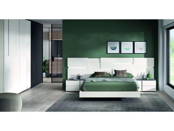 Conjunto dormitorio con armario puertas correderas modelo Cosmos 035